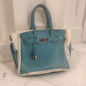 Handbags - Canvas Faux Birkin Tote
